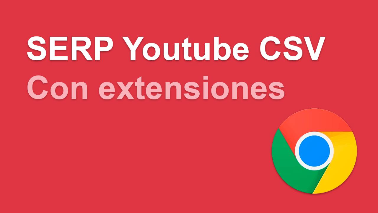 Descargar resultados de búsqueda de Youtube en CSV